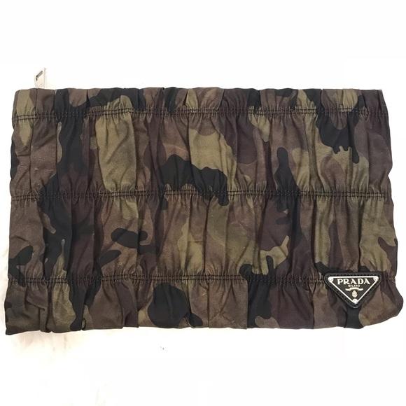 3588dd2c0c10 Prada Bags | Tessuto Gaufre Camo Clutch | Poshmark
